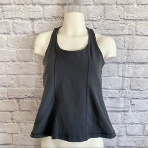 LULULEMON Grey Tank Top with cut out back